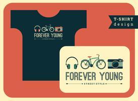 Ilustração vetorial com o slogan para camisetas