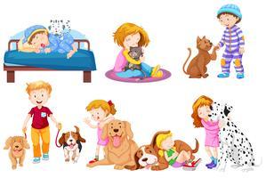 Grupo de mascota amante