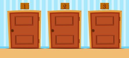 Türen mit Nummern im Haus