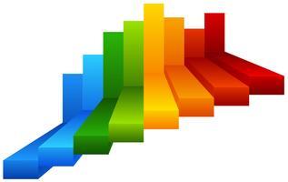 Rainbow steps infographic diagram