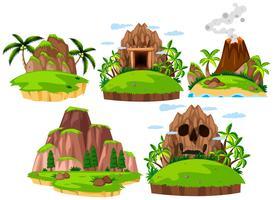 Set Berginsel auf weißem Hintergrund