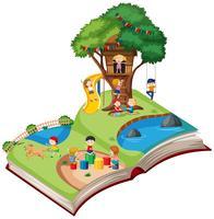 Offenes Buch Spielplatz Thema