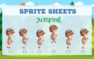 Sprite sheet jumping template