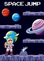 Eine Spielvorlage Weltraumszene