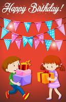 Happy birthday with children card