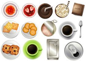 Blick auf die verschiedenen Getränke und Getränke