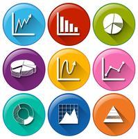Ícones de gráfico
