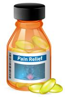 Recipiente de alívio da dor