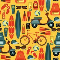 Vector naadloos patroon van actieve de zomervakantie.