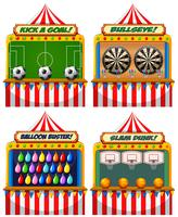A Set of Fun Fair Game vector