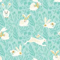 Vector seamless pattern with bunnies for Easter and other users.