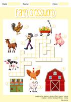 A farm crossword sheet