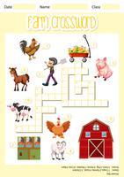 A farm crossword sheet