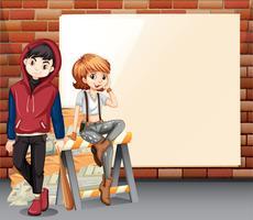 Steet teenager blank banner