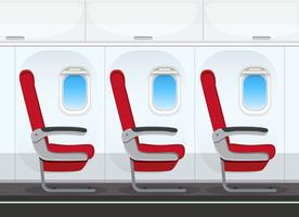 Empty aircraft cabin background