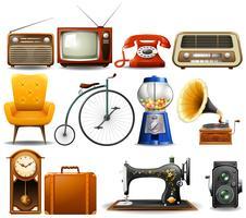 Många typer av vintageobjekt