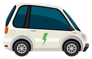 A white electric car