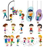 Sats av barn som leker