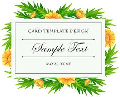 Card template with yellow calendula