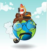 Bauarbeiten auf der Erde