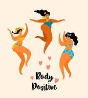 Cuerpo positivo. Ilustracion vectorial