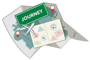 Pass stämpel och karta