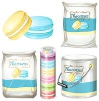 Macarons in different packaging