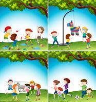 Niños con actividad divertida.