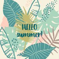 Diseño tropical de verano. Plantilla de vector