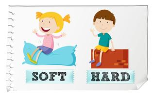 Adjetivos opostos moles e duros