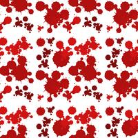 Seamless background design with red splash vector