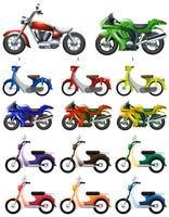 Different types of motocycles vector