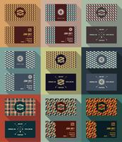 Big set of business card template, vintage retro background.