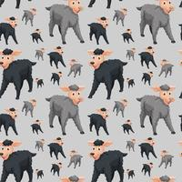 Seamless pattern of sheep