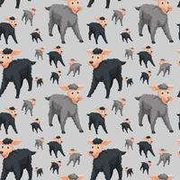 Seamless pattern of sheep