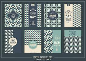 Happy Father s Day mallar i Retro Style.