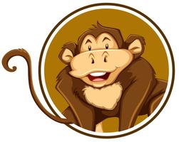 A monkey sticker template vector