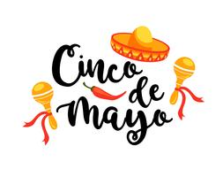 Cinco de Mayo. Vector illustratie.