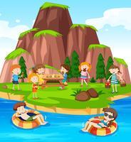Människor Camping på naturen