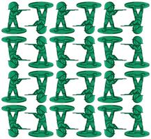 Seamless background with toy soldiers vector