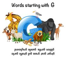 Words Strating with Letter G