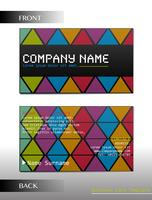 A rectangular business card