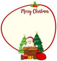 Santa kerstkaartsjabloon