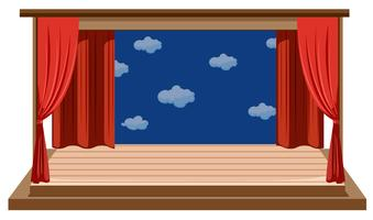 Un palcoscenico vuoto isolato