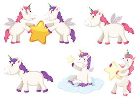 A set unicorn character
