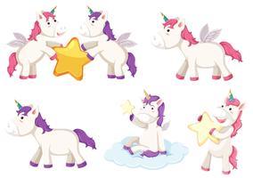 Un personaje de unicornio establecido.
