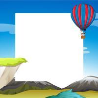 Modèle de voyage en montgolfière