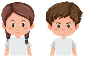 Boy and girl character