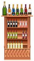 Champagner- und Weinflaschen in Regalen