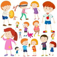 Niños haciendo diferentes actividades.